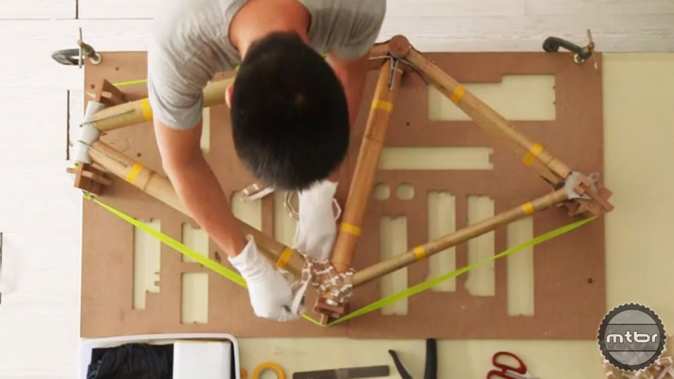 Build your own bamboo bicycle frame at home.