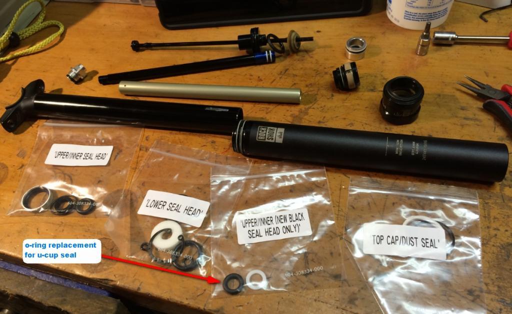 Rockshox Reverb Stealth Upper Assembly A1 125mm