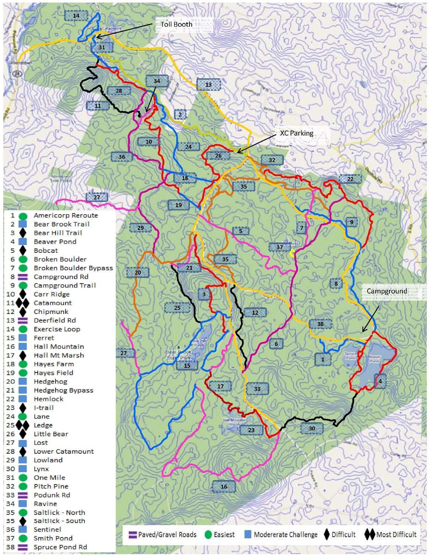 New Bear Brook Map Mtbr Com