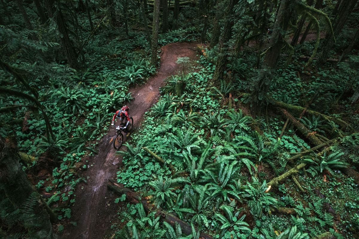 A dose of rain left trails tacky (and occasionally slick.) Photo by Margus Riga