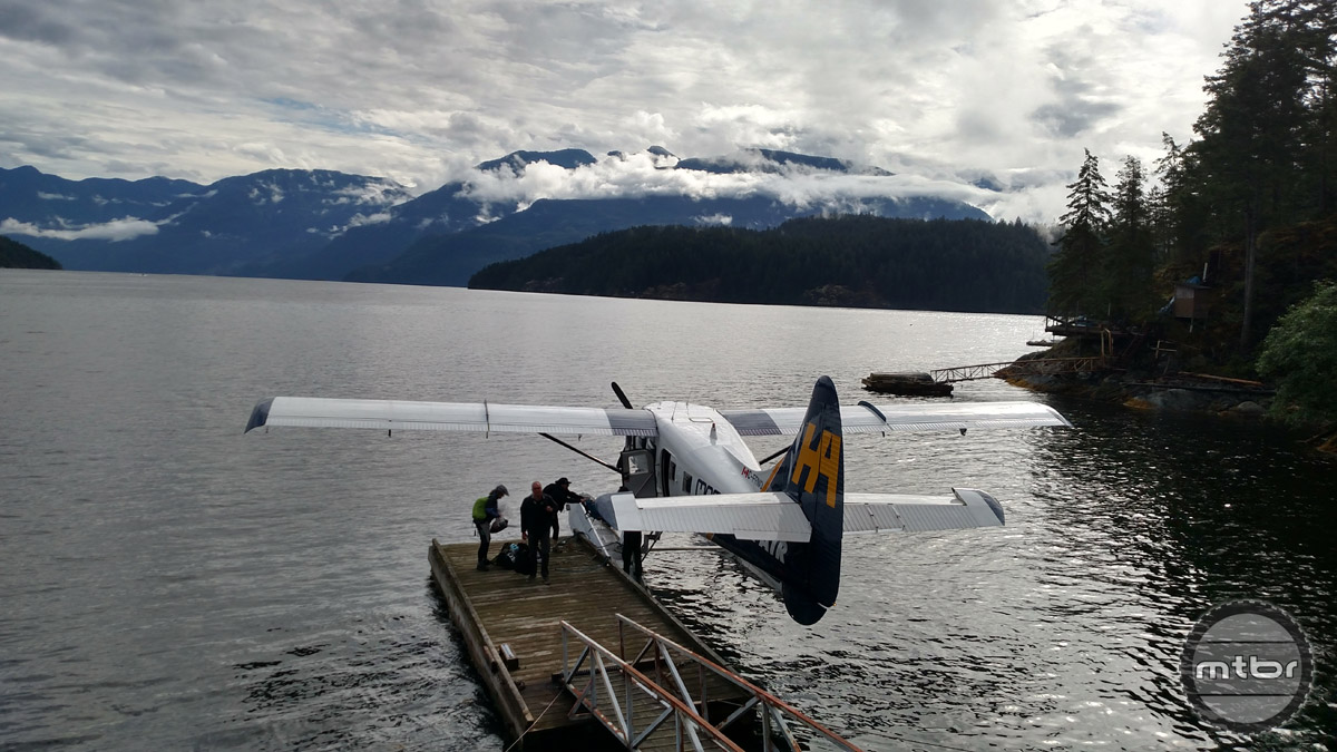 Our lucky racer drew a transfer by seaplane for this stage.