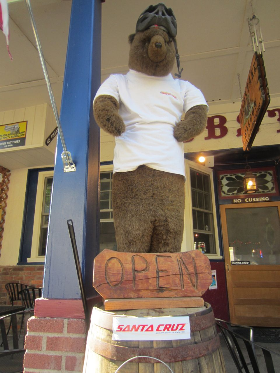 The bear at Grubstake Saloon