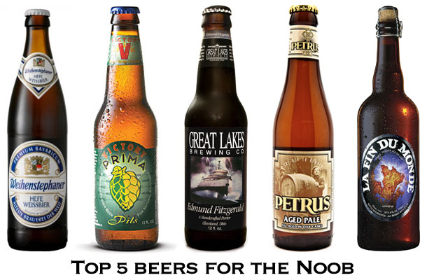 Top 5 Beers for the Noobs