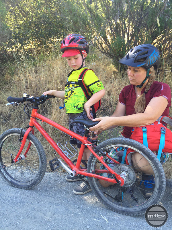 Saddle height adjustment is key for comfort and efficiency for all riders, but especially for young riders who may not be able to tell you if the saddle is too high or too low. Parent's will have to watch closely and communicate with what strikes a good balance between efficiency and confidence.