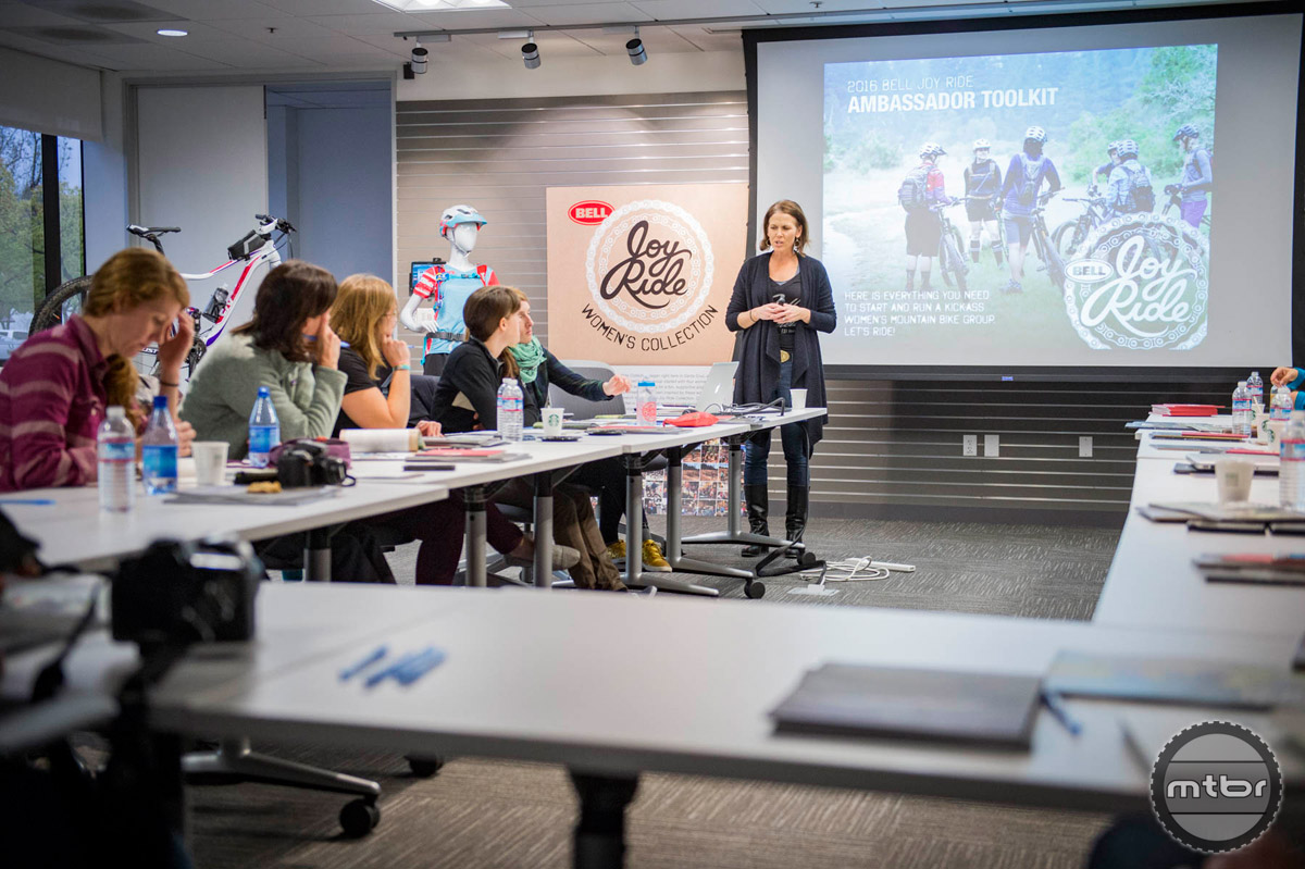 In addition to lots of fun activities, the new Joy Ride ambassadors spent time in the classroom learning about how to structure, organize, and promote rides. Photo by Josh Sawyer