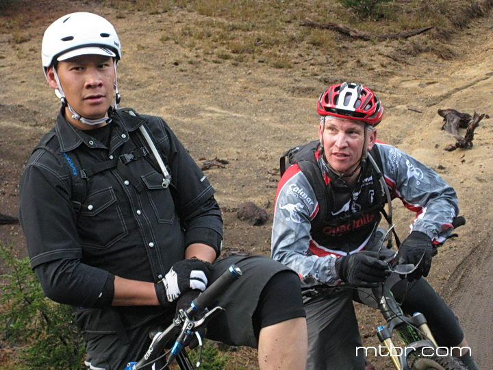 Peter and Kyle ready for more singletrack railing
