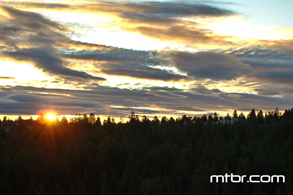 Sunrise over Bend, OR