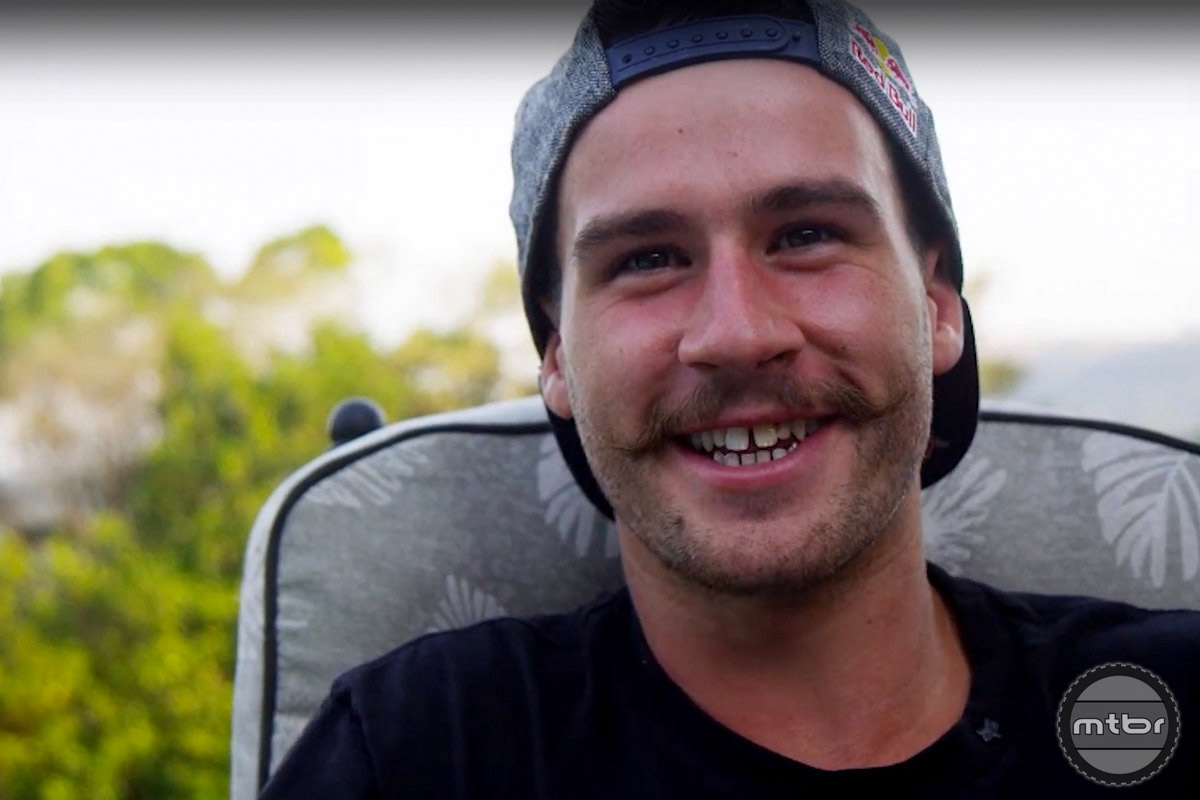 Steve easily sported the best facial hair in the mountain bike Pro circuit.