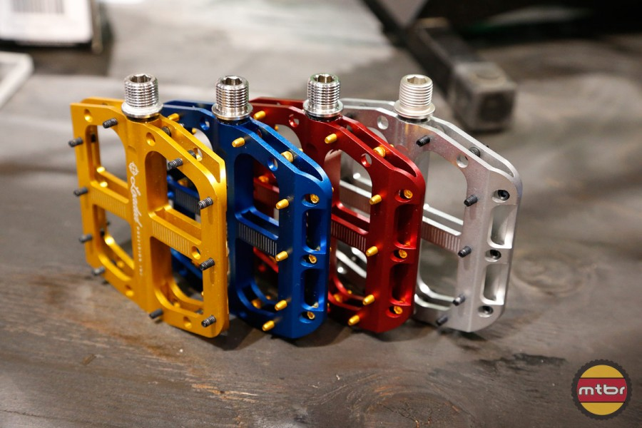 Flat or platform pedals are a simple but popular component.
