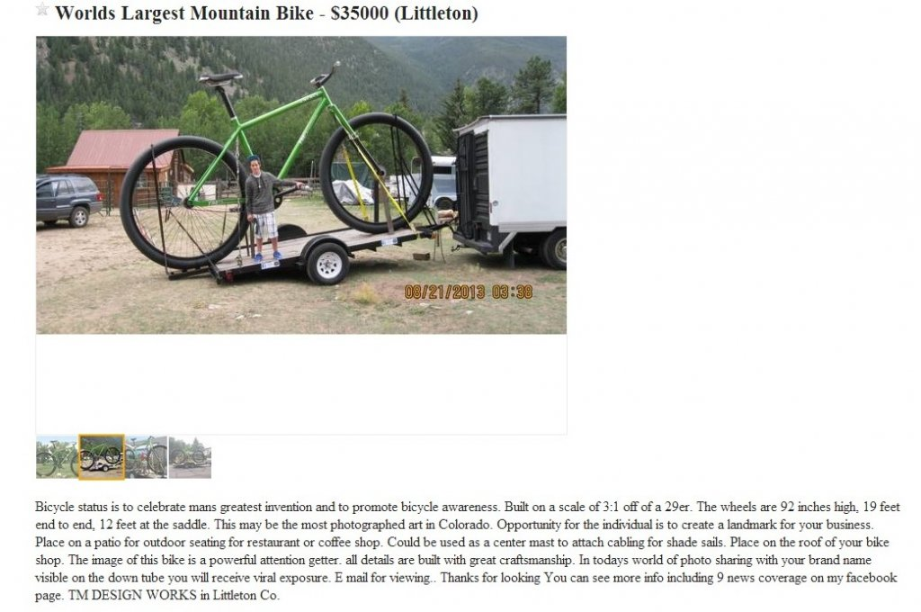 Post your CraigsList WTF\'s!?! here - Page 19- Mtbr.com