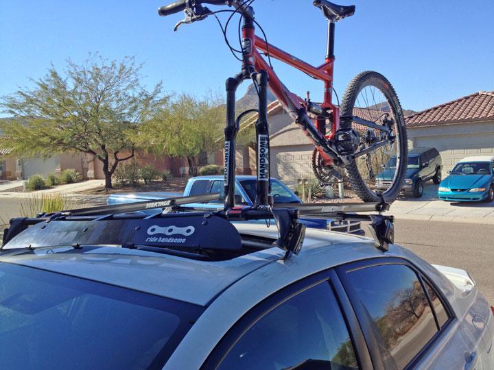 Roof Rack Ranger App - Prevents driving into garage with bike / gear-bike-damaged-driving-into-garage.jpg