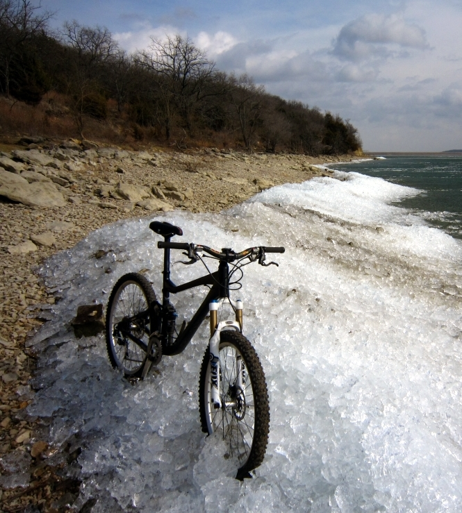 One picture, one line.  No whining. Something about YOUR last ride. [o]-bike-ice2.jpg