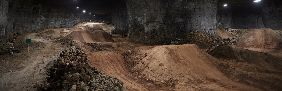 Huge underground complex offers dirt jumpers tons of options.