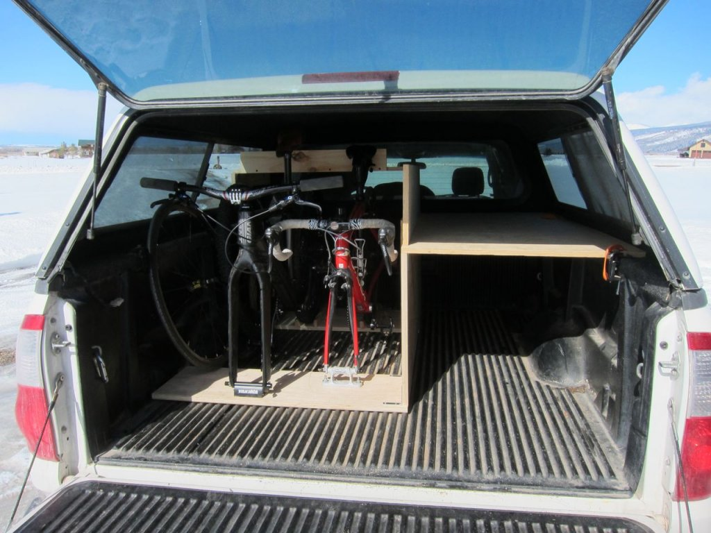 Truck ready for biking and camping with everything inside.-bike-rack.jpg
