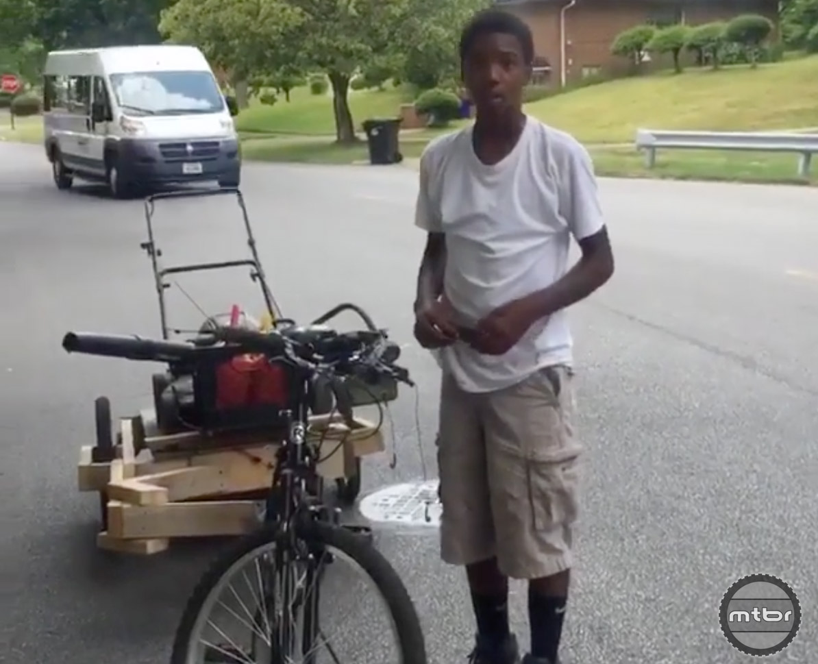 The news is filled with  heart-wrenching stories, so how about a feel good story about a kid, a sketchy bike trailer, and dreaming big.