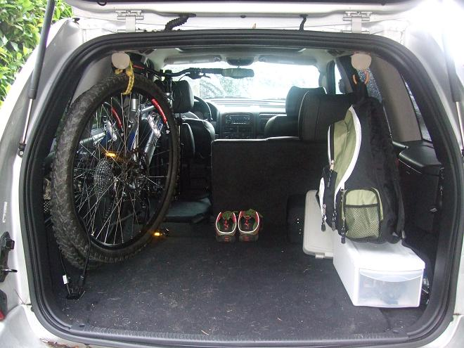 Two Bikes Upright Inside Of The Car Mtbr Com