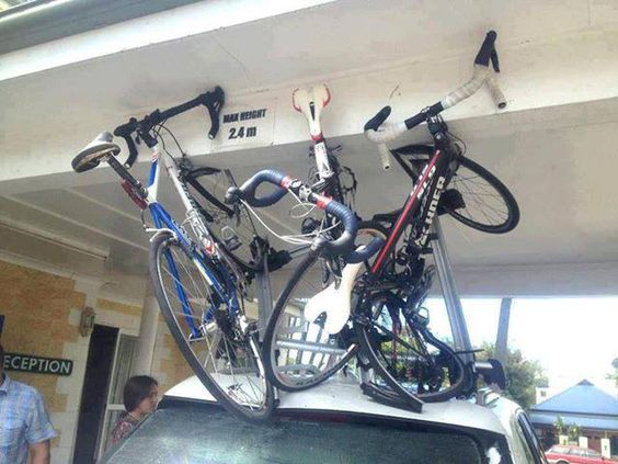 How To Not Drive Into Your Garage With Bikes On The Roof