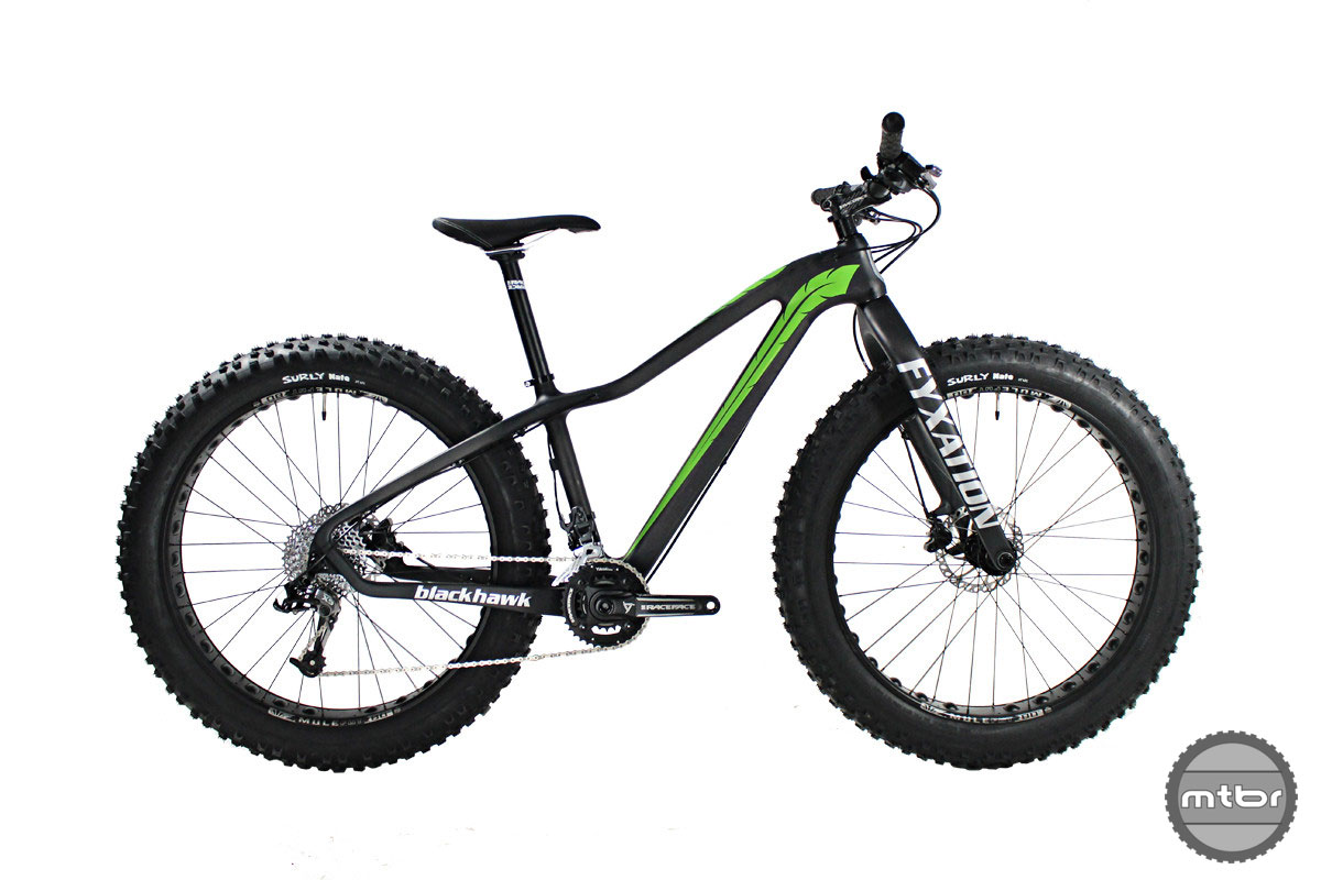 Designed to handle sand, ice, and trails the four season, Blackhawk 2x10 trail bike is designed for more than just snow. Photo courtesy of Fyxation