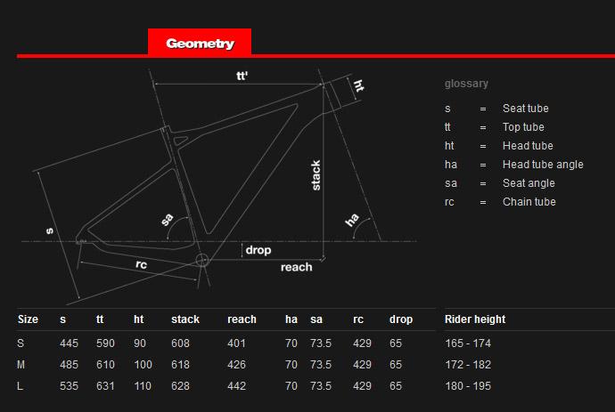 BMC teamelite TEO1 29 geometry chart