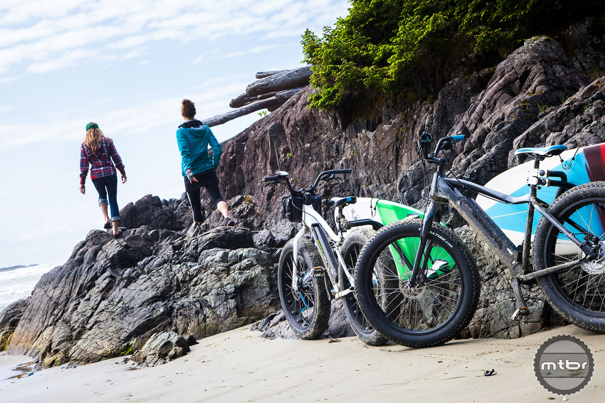 Fat tires shine as one ventures to the beach.
