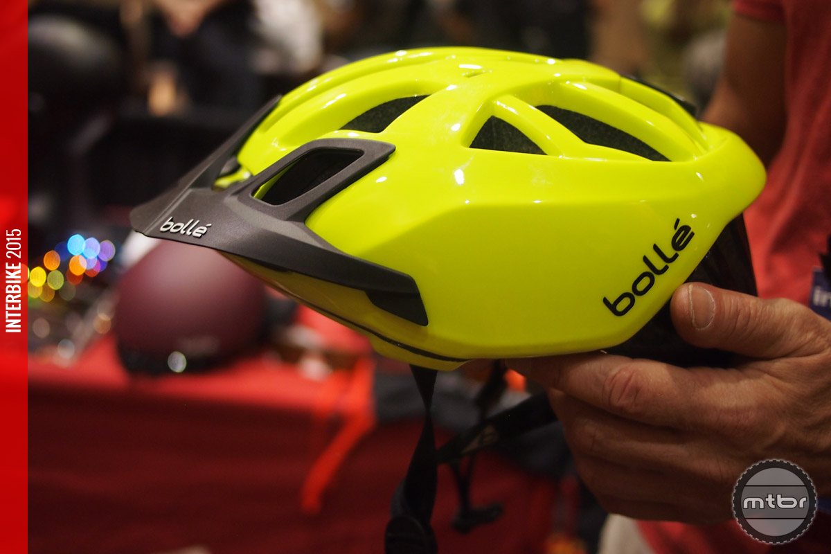 The One helmet with optional MTB visor installed.