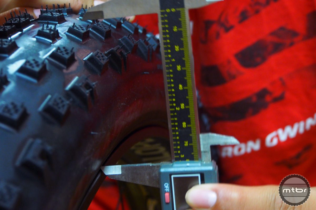 Tire height is about 80 mm.