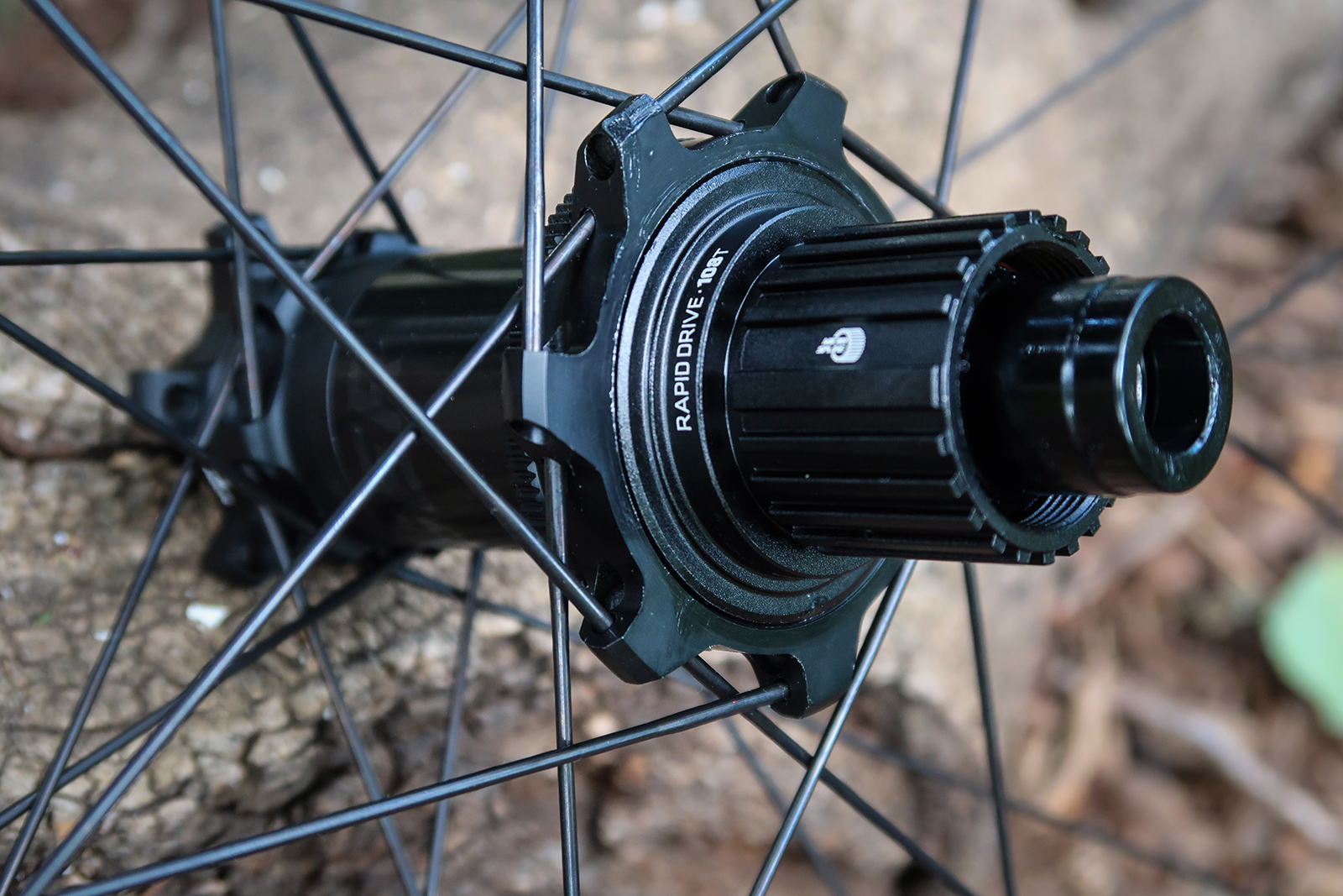 Bontrager's Rapid Drive freehub is quick on the trail and easy to service.