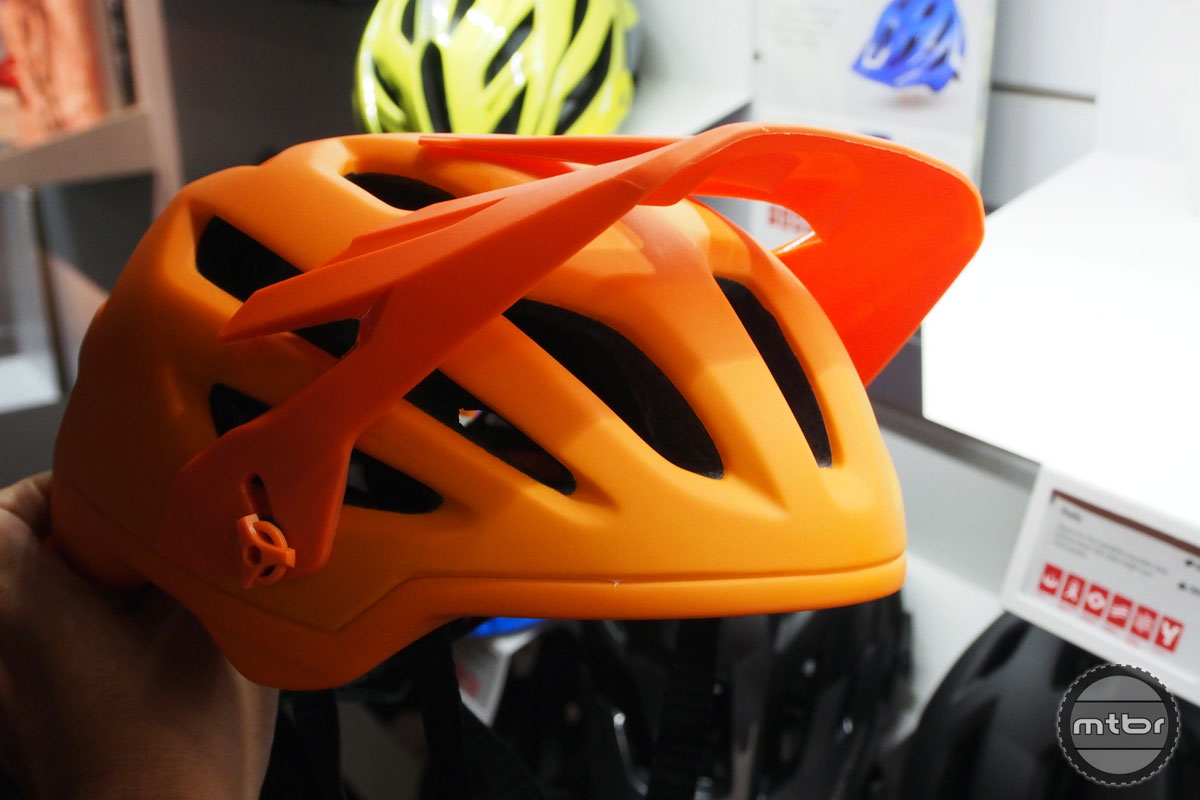 Bontrager Rally with Visor up to Make Room for Goggles