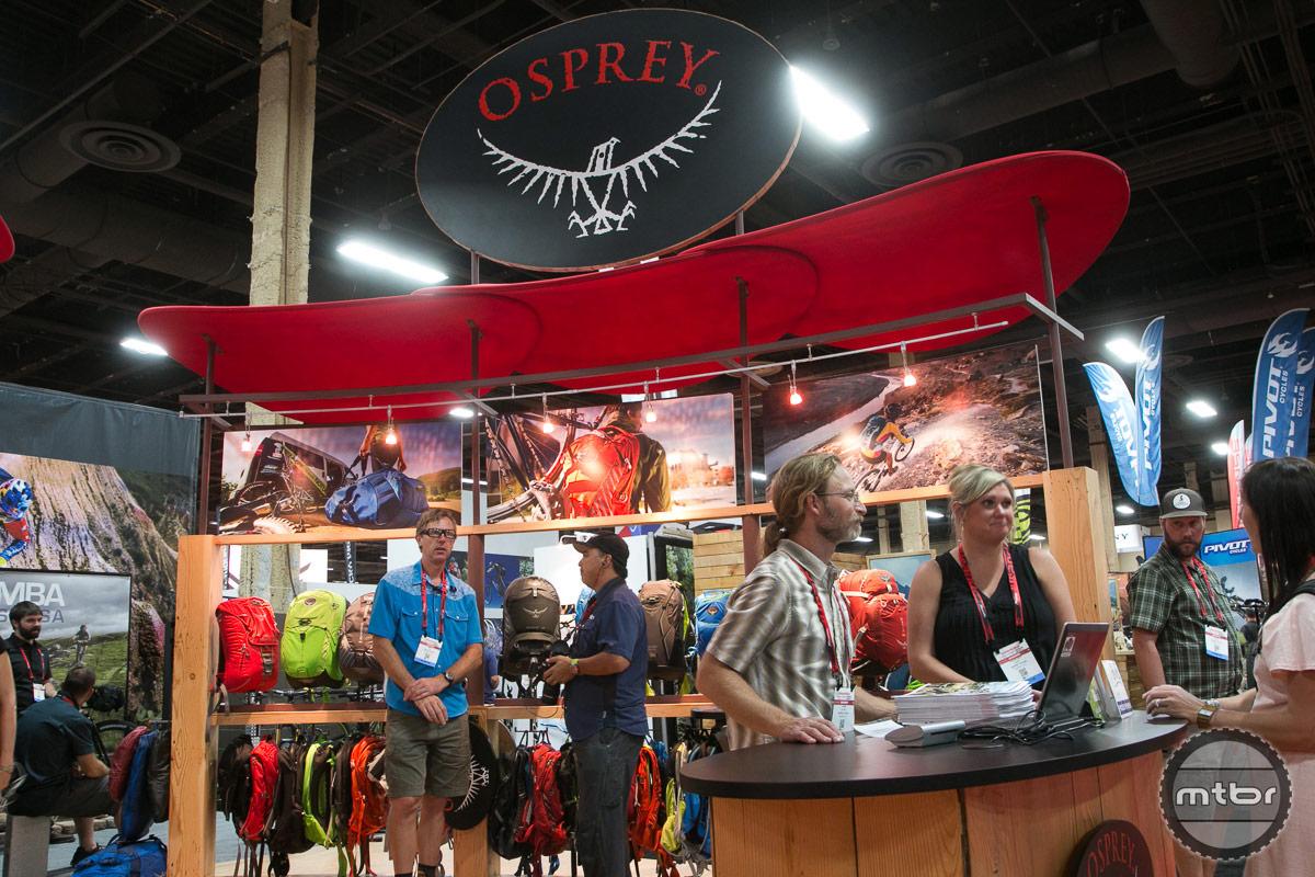 Osprey Packs Interbike 2014 Booth