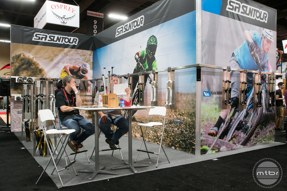 SR Suntour Interbike 2014 Booth