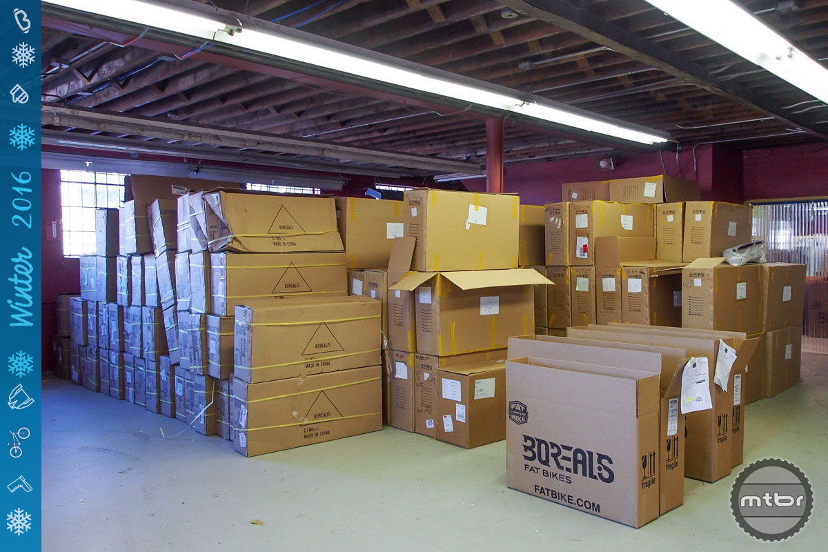 Like a lot of U.S.-based bike businesses, HQ resembles a shipping center more than anything else.