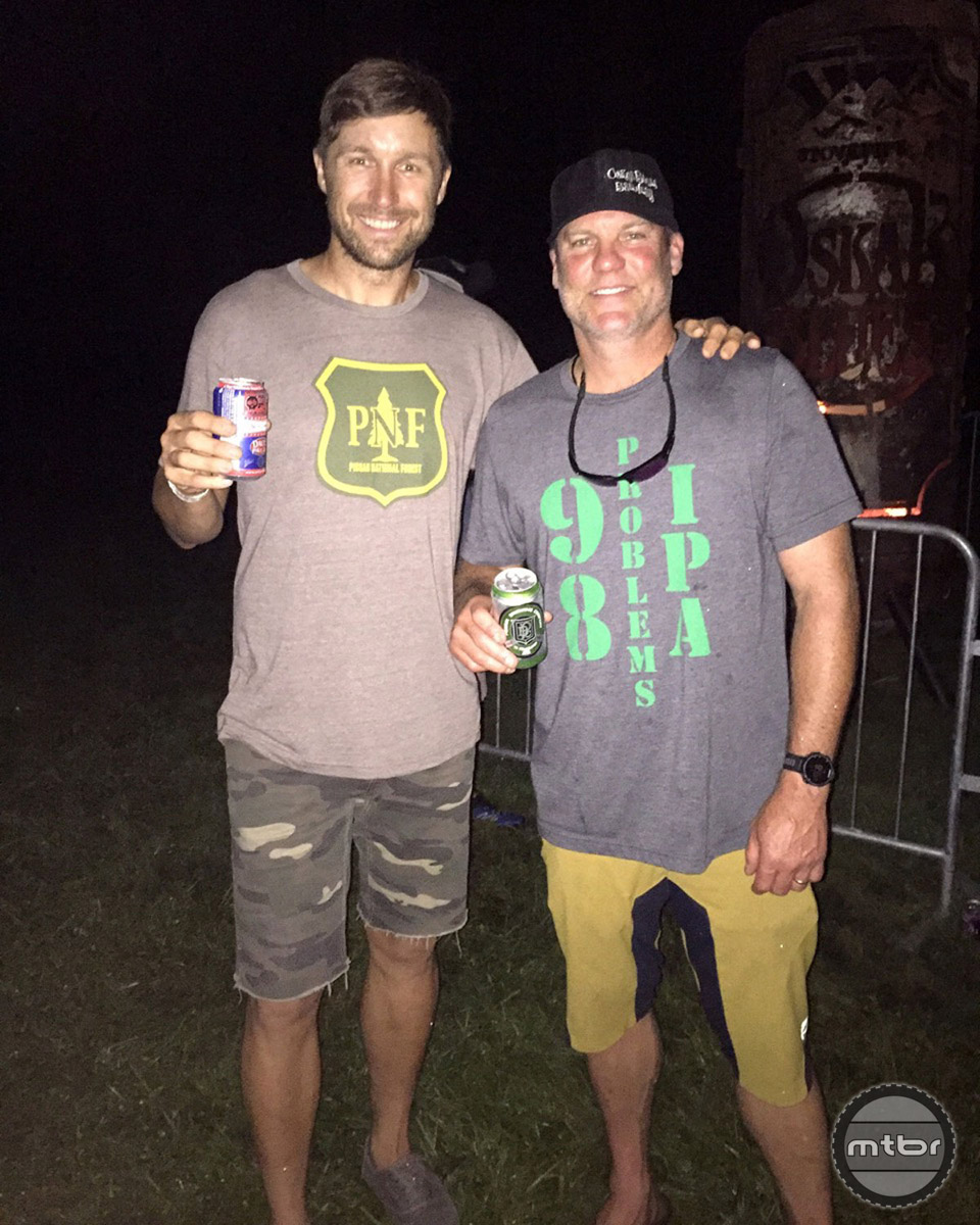 Hanging with Dale Katechis (yes THAT Dale) at the Oskar Blues Burning Can Festival, which originally brought Lenosky to Brevard.