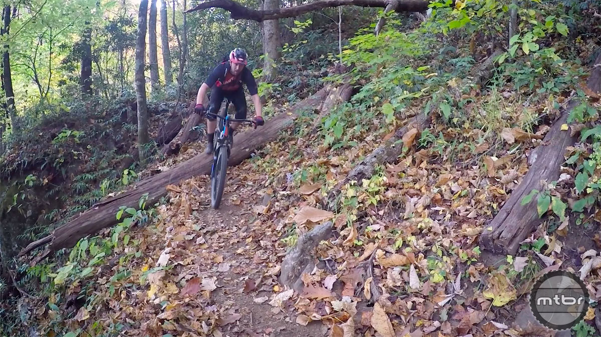 Ripping it up on the Farlow Gap trail.