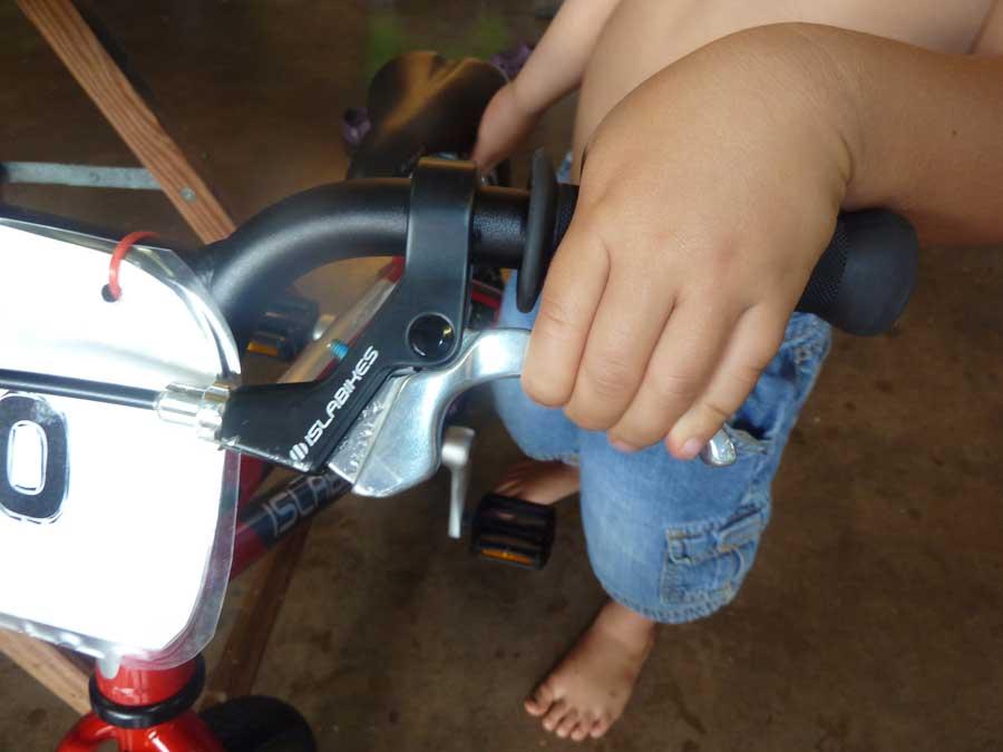 """3 year old - islabike 14"""" and 12"""" hotrock-brake2.jpg"""