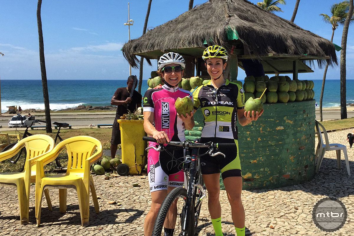 The Brazillian beach life would be short-lived as our intrepid racers got down to business.