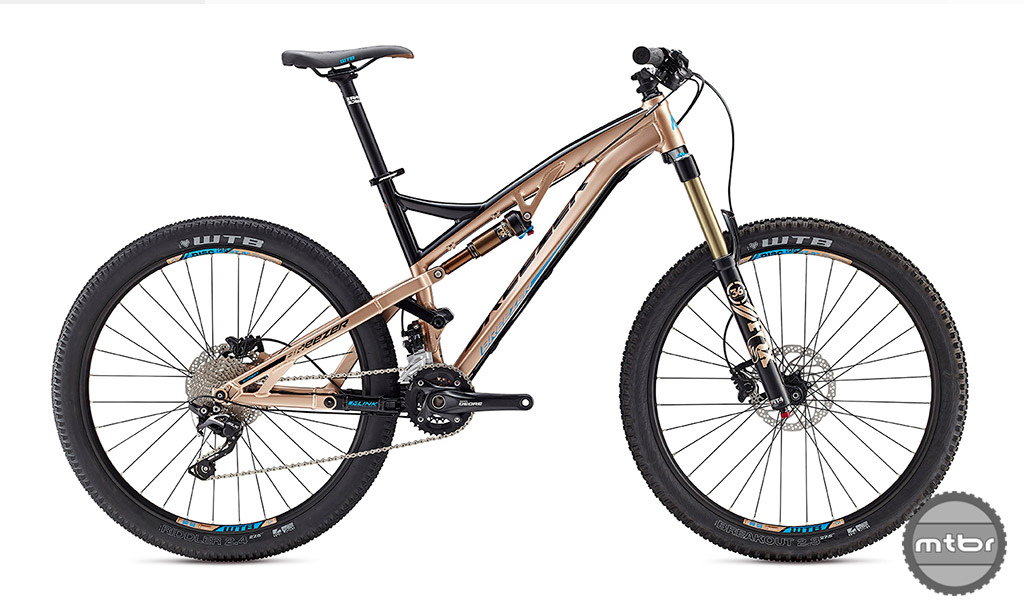 """The Breezer Repack Expert has 160mm of MLink travel and rolls on 27.5"""" wheels."""