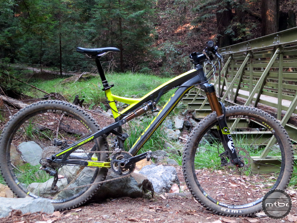 All mountain/enduro bike with 160mm of travel via a unique mid-chainstay pivot.