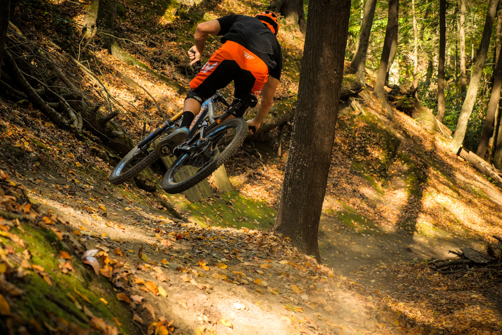 Brice Shirbach in East Stroudsburg, PA riding Glen Park trails