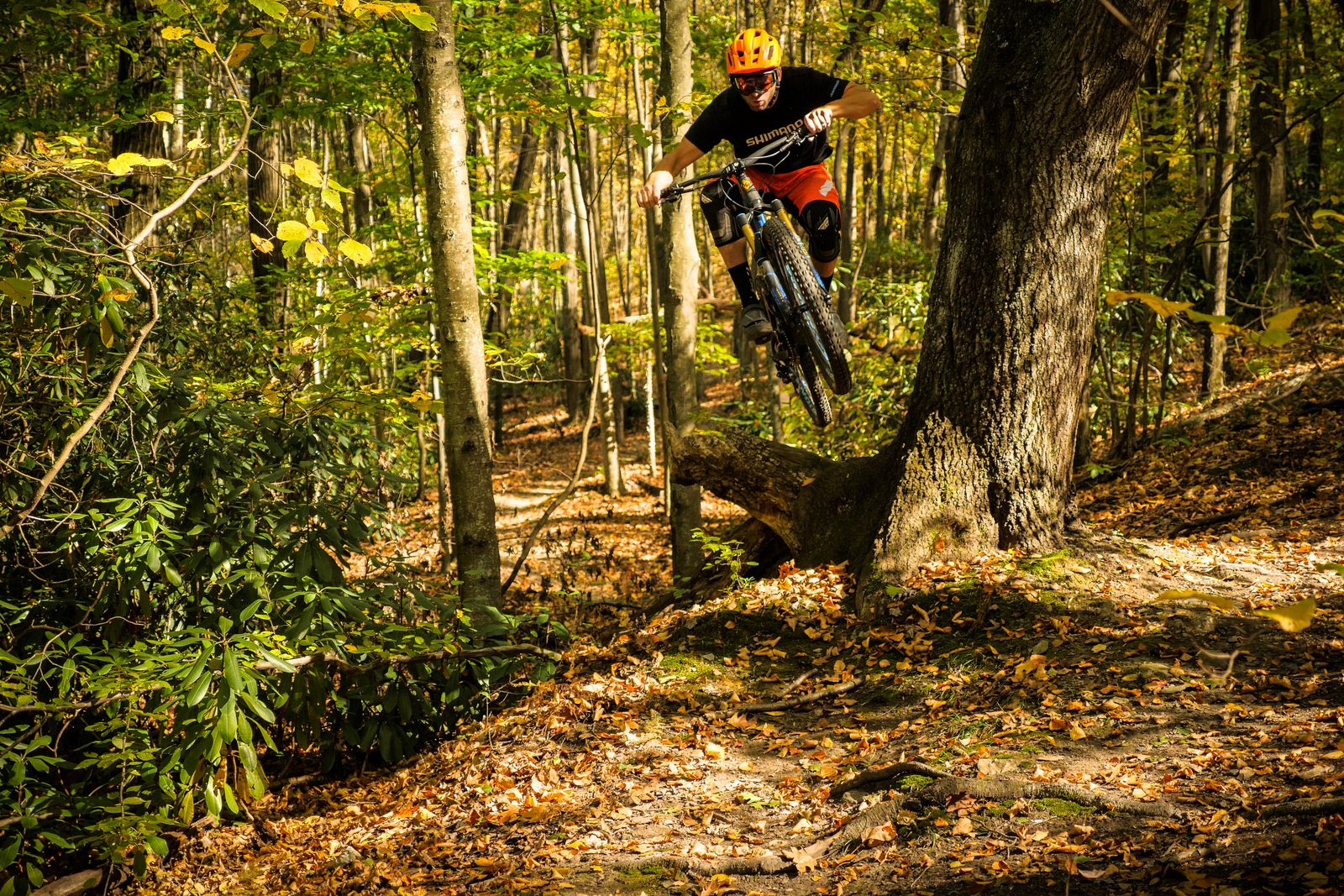 Brice rides a large Pivot Mach 6