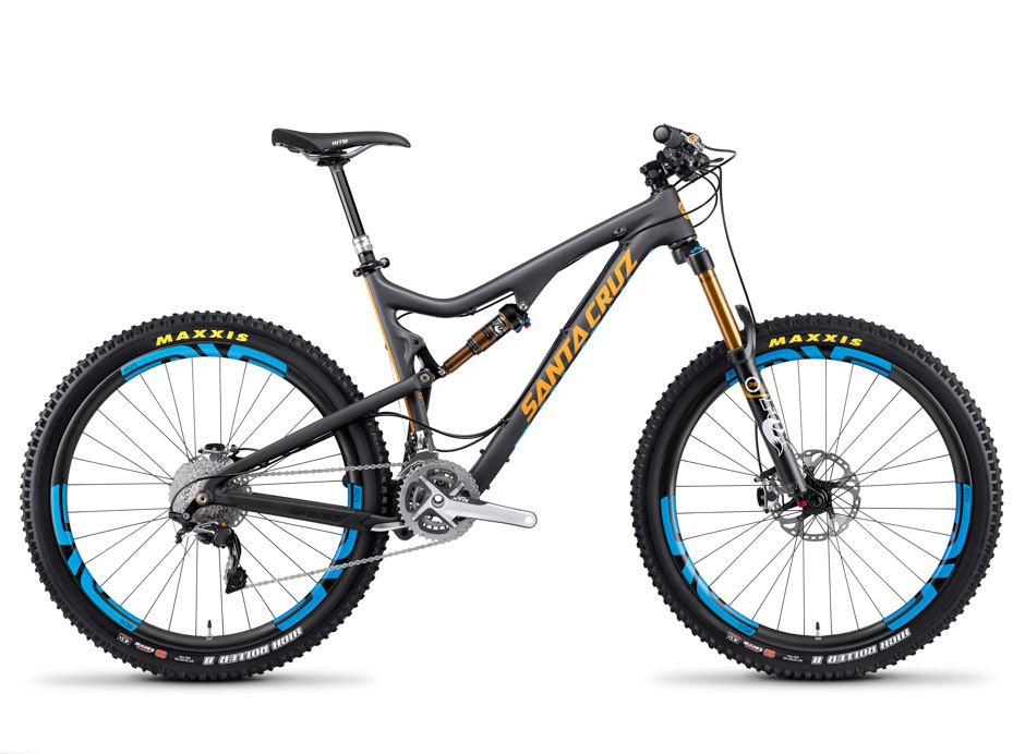 Santa Cruz Bronson Carbon with Blue Enve Wheels