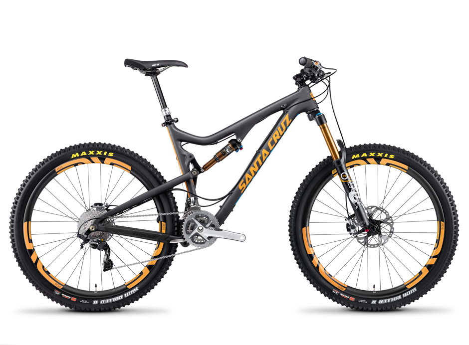 Santa Cruz Bronson Carbon with Orange Decals and Enve