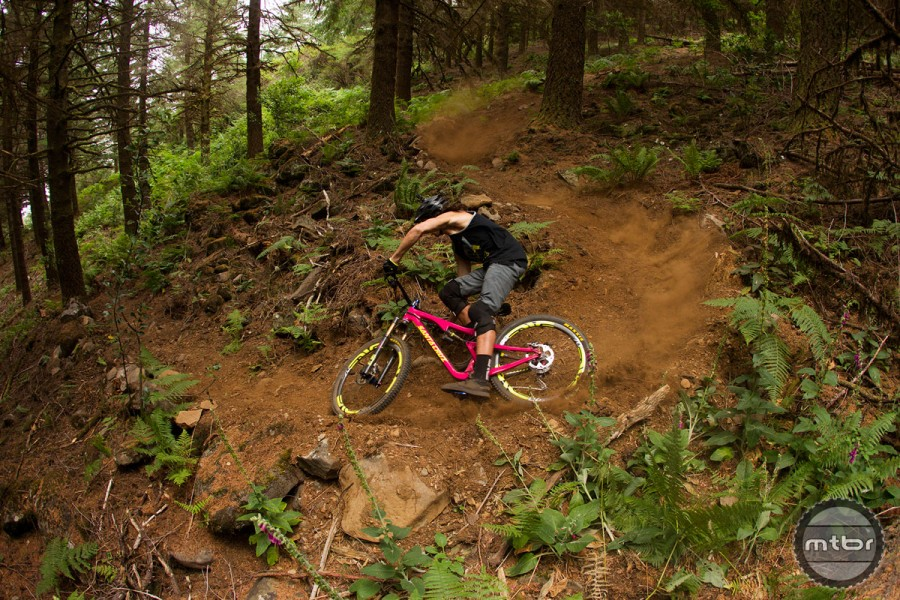 Taking a tight switchback