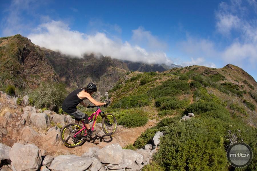 Josh riding the new Santa Cruz Bronson in Madeira.