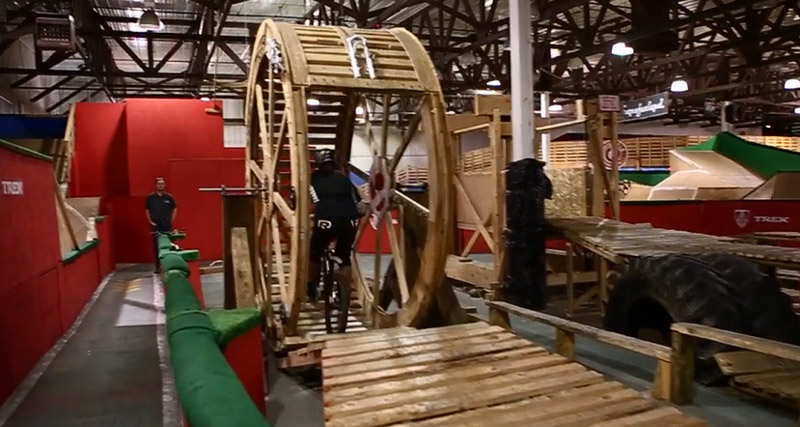 Tippie and Carter ride Rays - hamster wheel