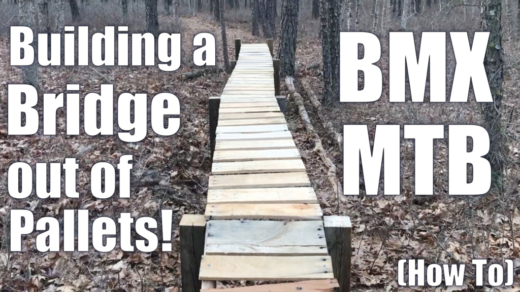 How to Build a Trail Wood Bridge from Pallet Planks!-buildingabridge.jpg