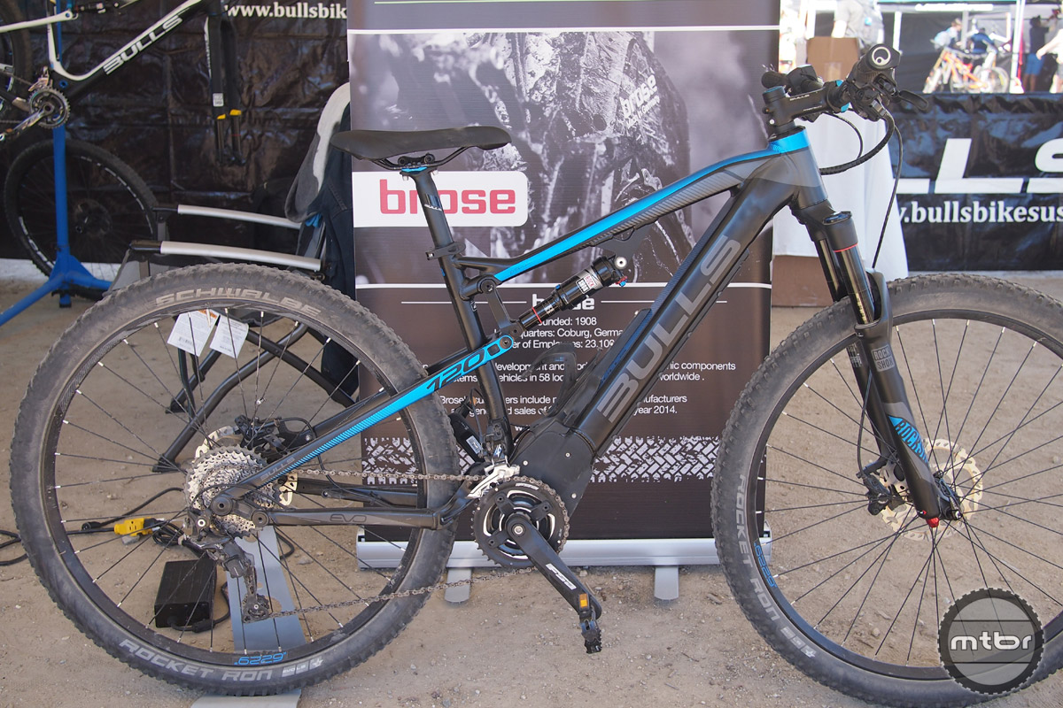 The eStream is a full suspension 29er with 120mm of travel and a Brose 250 watt  electric motor.
