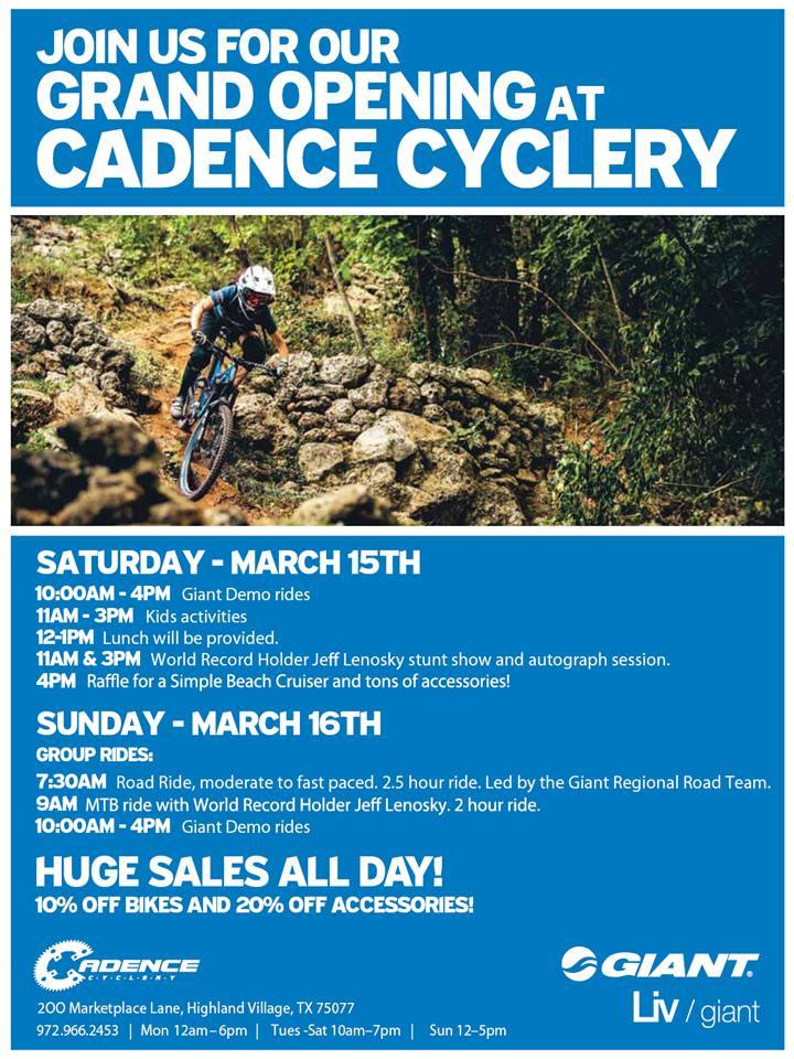 Cadence Cyclery Grand Opening Party!! Highland Village(Near Grapevine)-cadenceopening.jpg