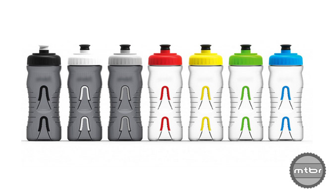 Seven different colors of the 20 oz. BPA-free bottle.