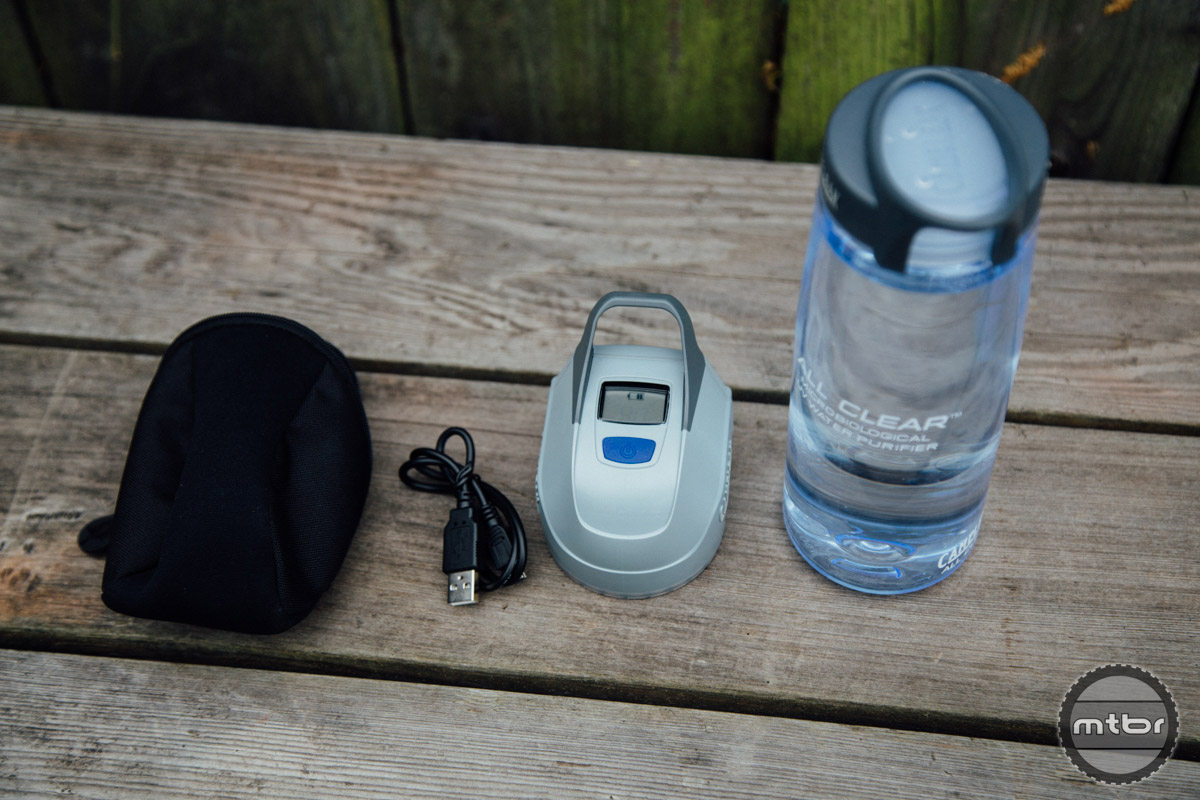 The CamelBak All Clear is a all in one UV filtration and bottle system.