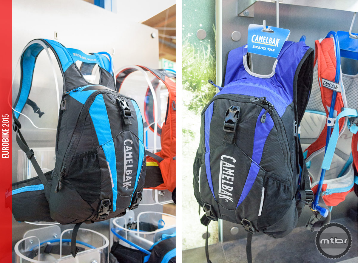 The CamelBak Skyline 10 LR (left) and women's specific CamelBak Solstice 10 LR (right).